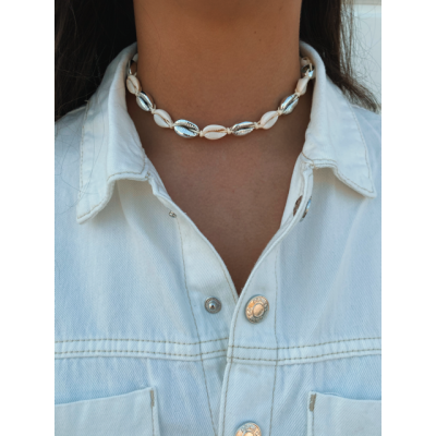 Ketting shell zilver